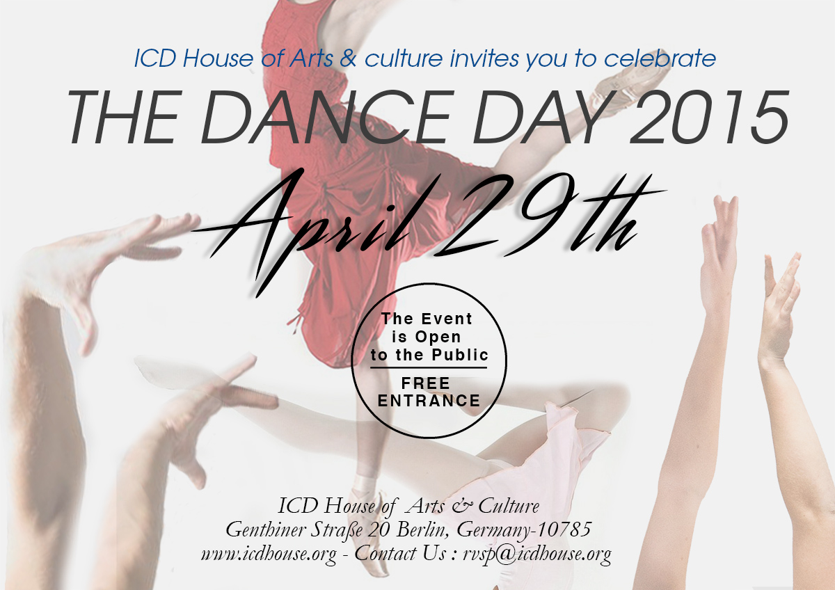 Invitation International Dance Day 2015 Cultural Event April 30th 2015 From 1500