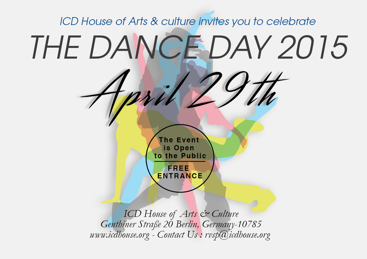 Invitation 2 International Dance Day 2015 Cultural Event April 30th 2015 From 1500