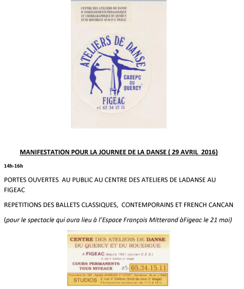 FIGEAC FRANCE JOURNEE DE LA DANSE 2016