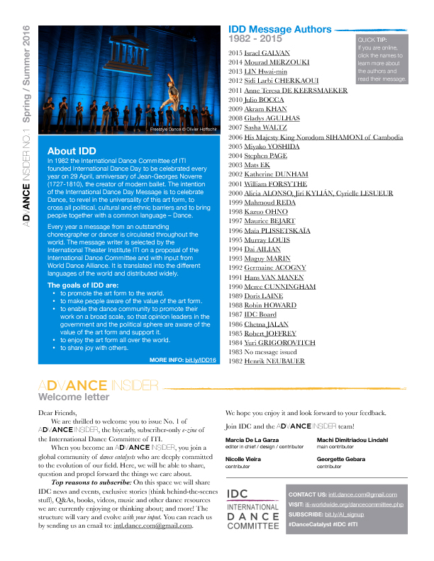 IDC news letter aDvANCE Insider 4
