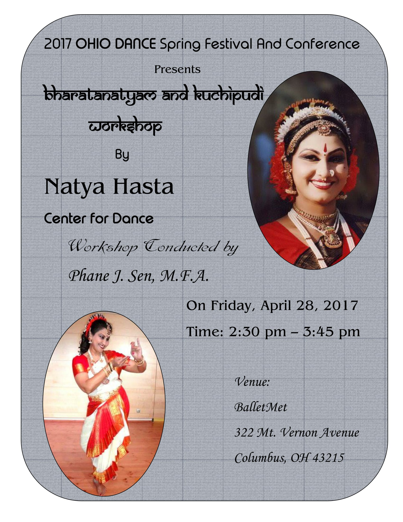 2017 Ohio Dance Bharatanatyam workshop 1