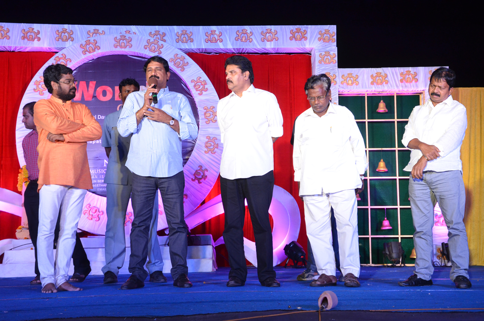 HRD MINISTER GANTA SRINIVASA RAO ADDRESSING ON THE WORLD DANCE DAY CELEBRATIONS AT RK BEACH ON SATURDAY