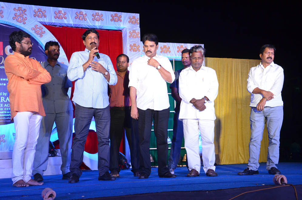 HRD MINISTER GANTA SRINIVASA RAO ADDRESSING ON THE WORLD DANCE DAY CELEBRATIONS AT RK BEACH ON SATURDAY 1