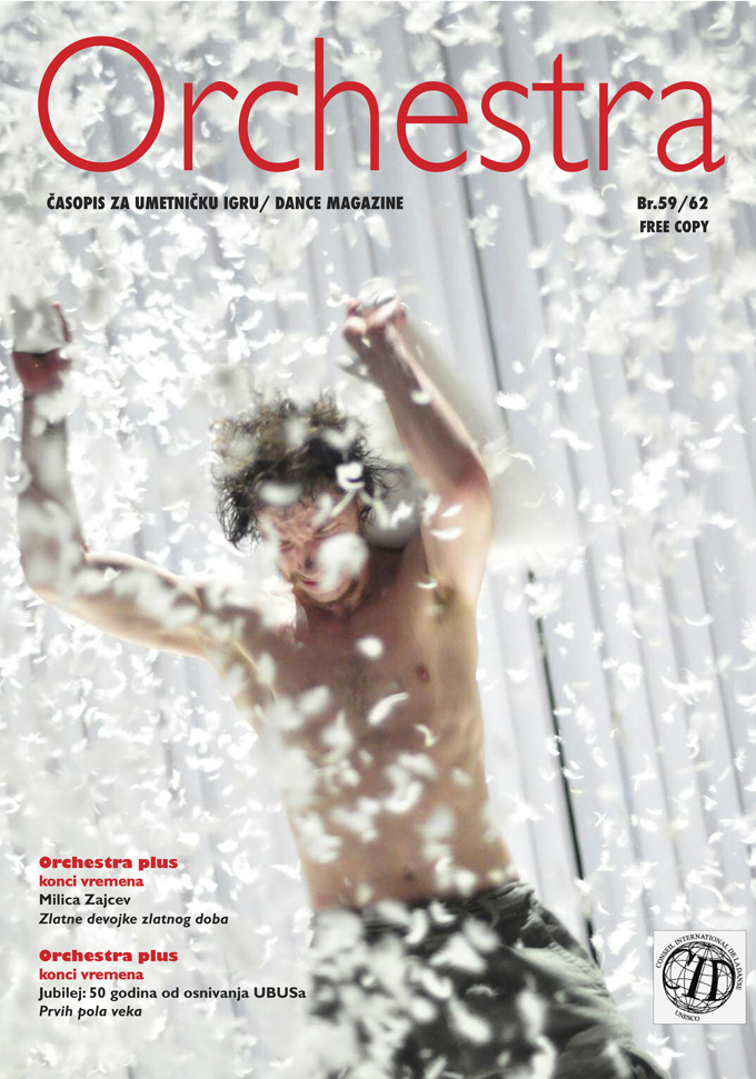 cover page of dance magazine Orchestra